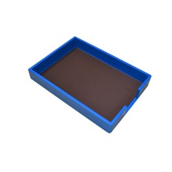 Blue Leather Tray Portfolios