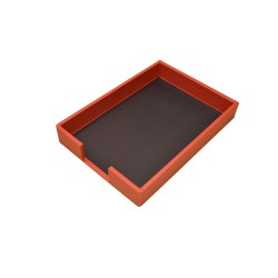 Orange Leather Tray Portfolios