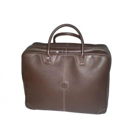 Dark Brown Leather Travel Bag