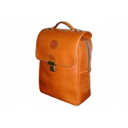Tan Leather Multifunction Bag