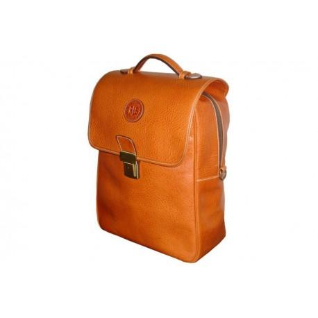 Tan Leather Multifunction Bag