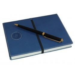 Cuaderno Piel Azul