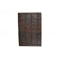 Cuaderno Piel Cocodrilo Marron