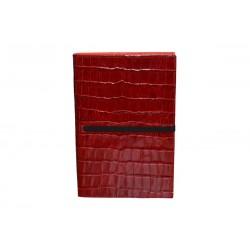 Cuaderno Piel Cocodrilo Rojo