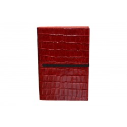 Red Alligator Leather Notebook