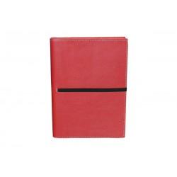 Cuaderno Piel Rojo