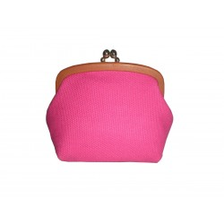 Fucsia Coin Leather Purse