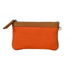 Orange Zip Around Wallet