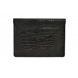 Dark Brown Crocodile Macbook Case