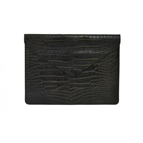 Dark Brown Crocodile Macbook Case