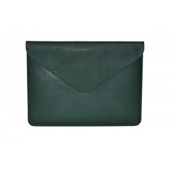 Green Leather Macbook Case