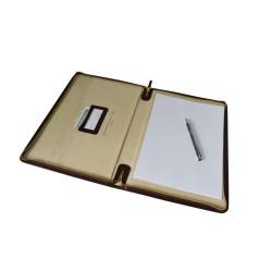 Porta Folios Piel Marrón