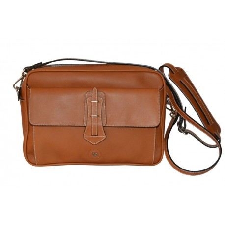 Tan Leather Multipurpose Bag