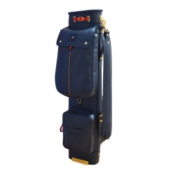 Navy Blue Travel Leather Golf Bag