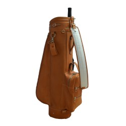 Tan Luxury Leather Golf Bag