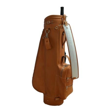 Tan Luxury Leather Golf Bag