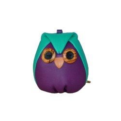 Green Leather Charm Owl