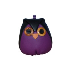 Purple Leather Charm Owl