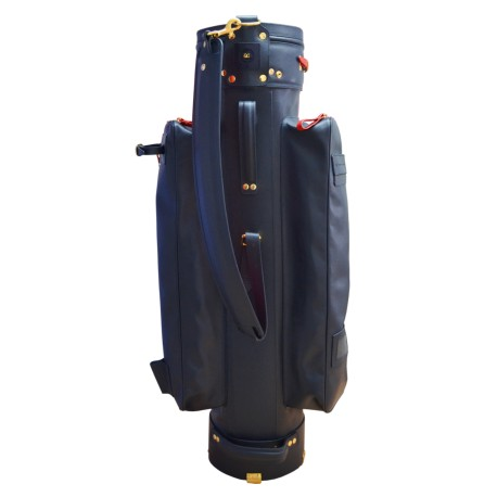 Navy Luxury Leather Golf Bag